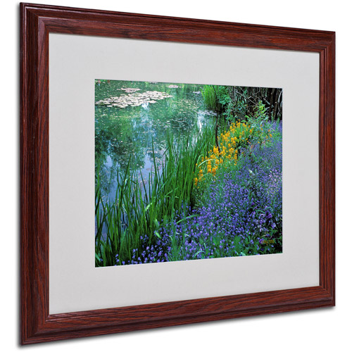 Trademark Fine Art 'Monet's Lily Pond' Matted Framed Art by Kathy Yates