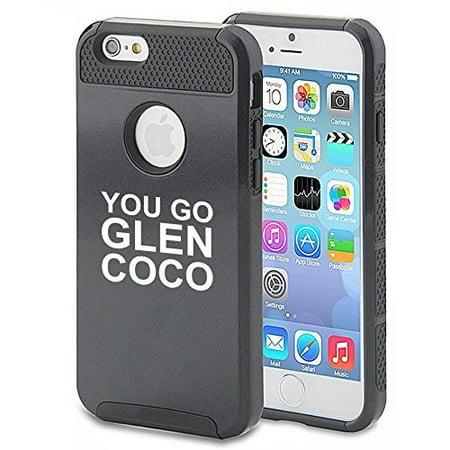 Apple iPhone (6 Plus / 6s Plus) Shockproof Impact Hard Case Cover You Go Glen Coco (Black) ()