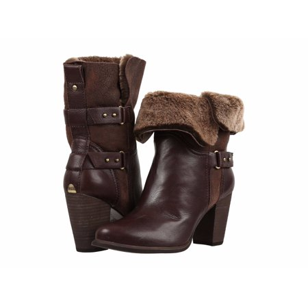 7e1248490a3 UGG Women's Jayne Fold Over Stacked Heel Boots 1013803