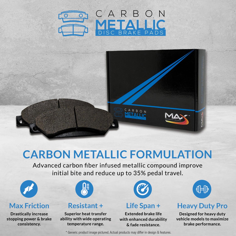 Disc Brake Pad Set-Advanced Technology Metallic Disc Brake Pad Front fits FE