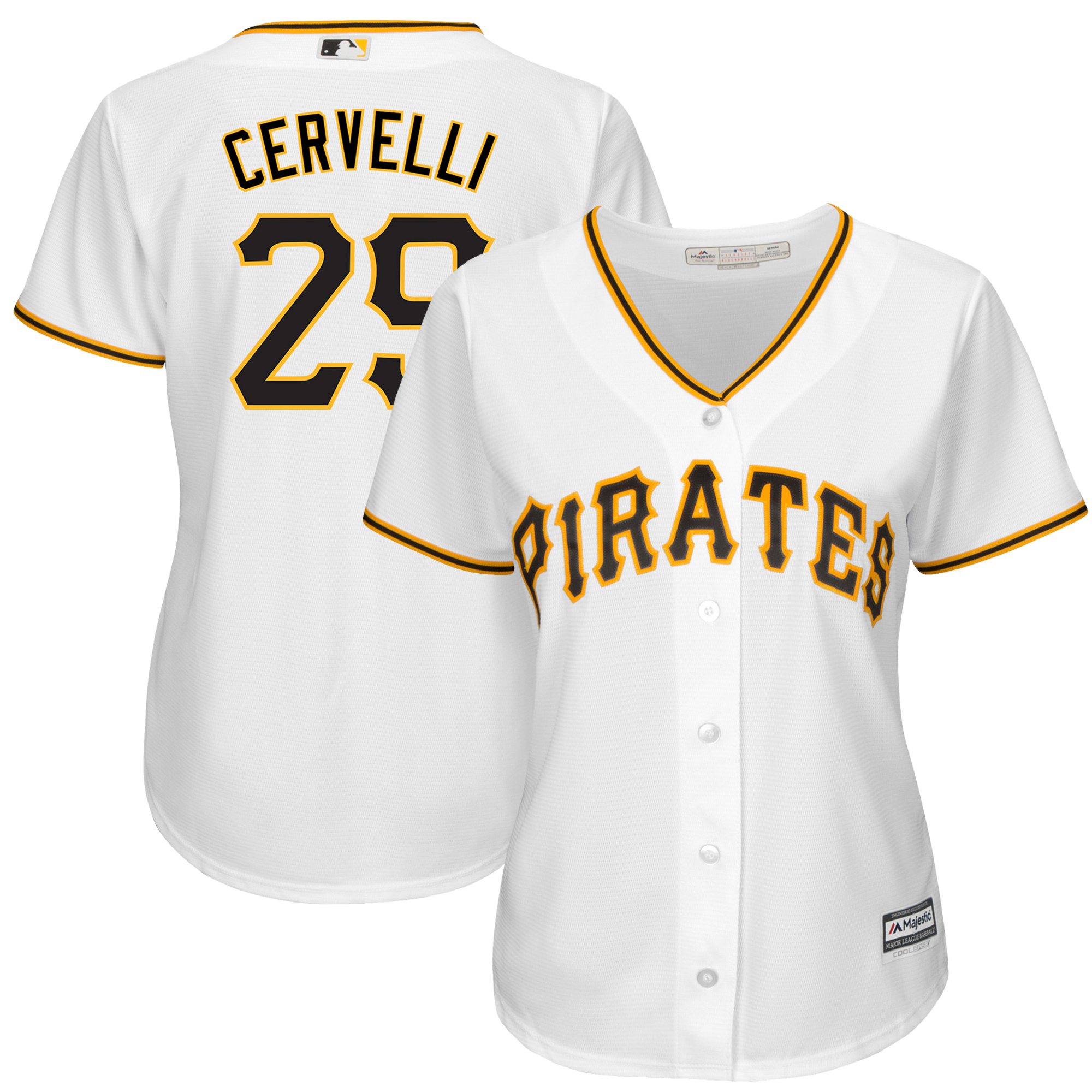 Francisco Cervelli Pittsburgh Pirates Women's Home Cool Base Player Jersey - White