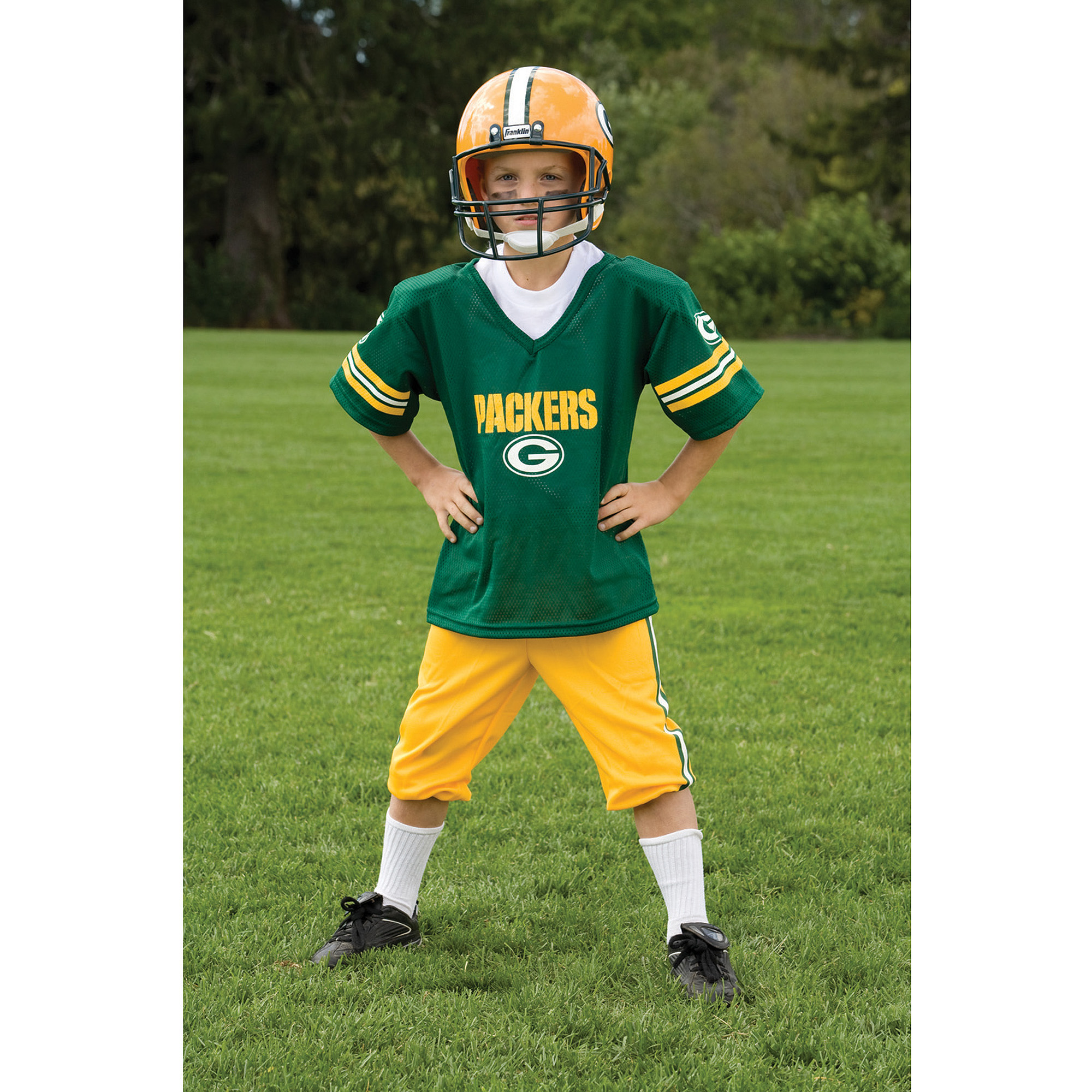 Franklin Sports NFL Green Bay Packers Deluxe Uniform Set Costume