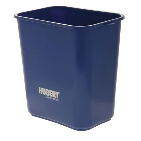 Recycle Trash Cans (HUBERT Trash Can 28 Quart Recycle Blue Plastic - 14 1/2 L x 10 1/2 W x 15 1/2)