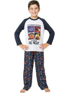 Five Nights at Freddy's 'Bear Plushy' Raglan Pajama 2pc Set, Blue, 8