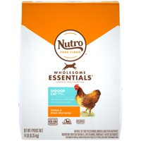 NUTRO WHOLESOME ESSENTIALS Natural Dry Cat Food, Indoor Cat Adult Chicken and Brown Rice Recipe, 14 lb. Bag