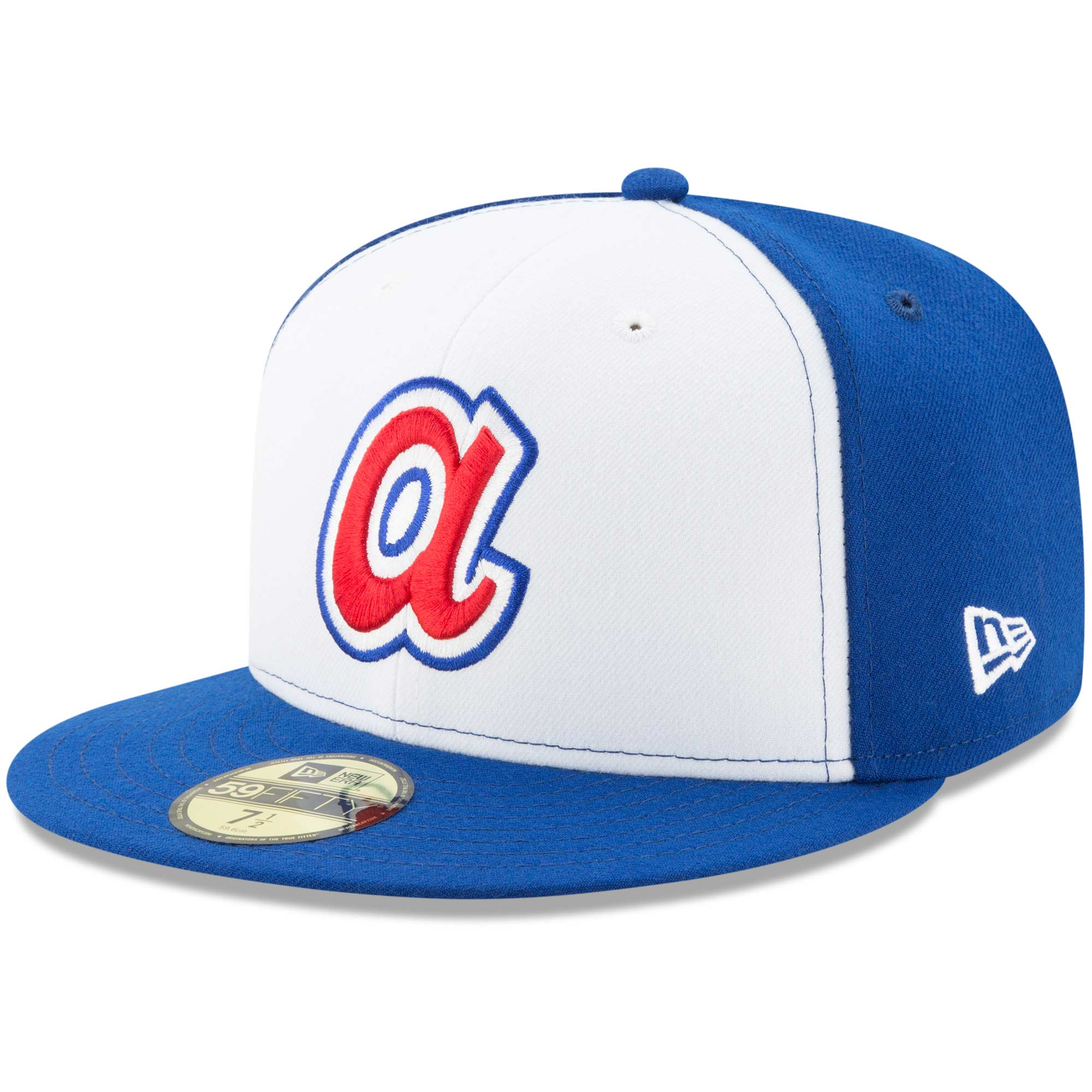 Atlanta Braves New Era Cooperstown Collection Wool 59FIFTY Fitted Hat - White