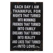 """"""" Each Day I Am Thankful For. """" Wall Sign"""