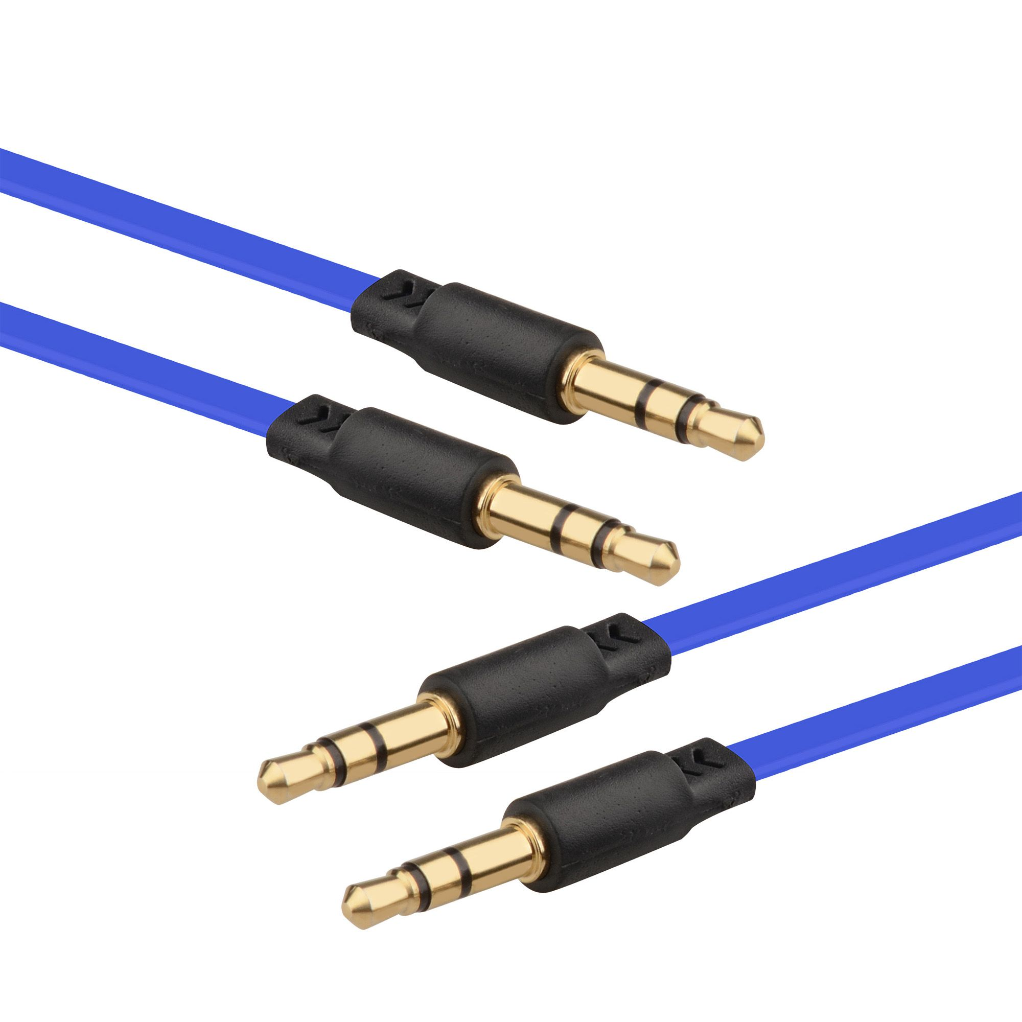 2 Pack Insten 3.5mm Audio Aux Stereo Extension M/M Cable Cord , 3.3FT Dark Blue (for Apple iPhone 6S 6 Plus 5.5 4.7 SE 5S iPod Touch Nano Classic / Samsung Galaxy S9 S9 Plus S9+ S8 S7 S6 J7 J3 J5)