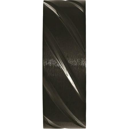 JbSP- Titanium Swirl Design Black IP-plated 8mm Brushed/Polished Band - image 3 de 6