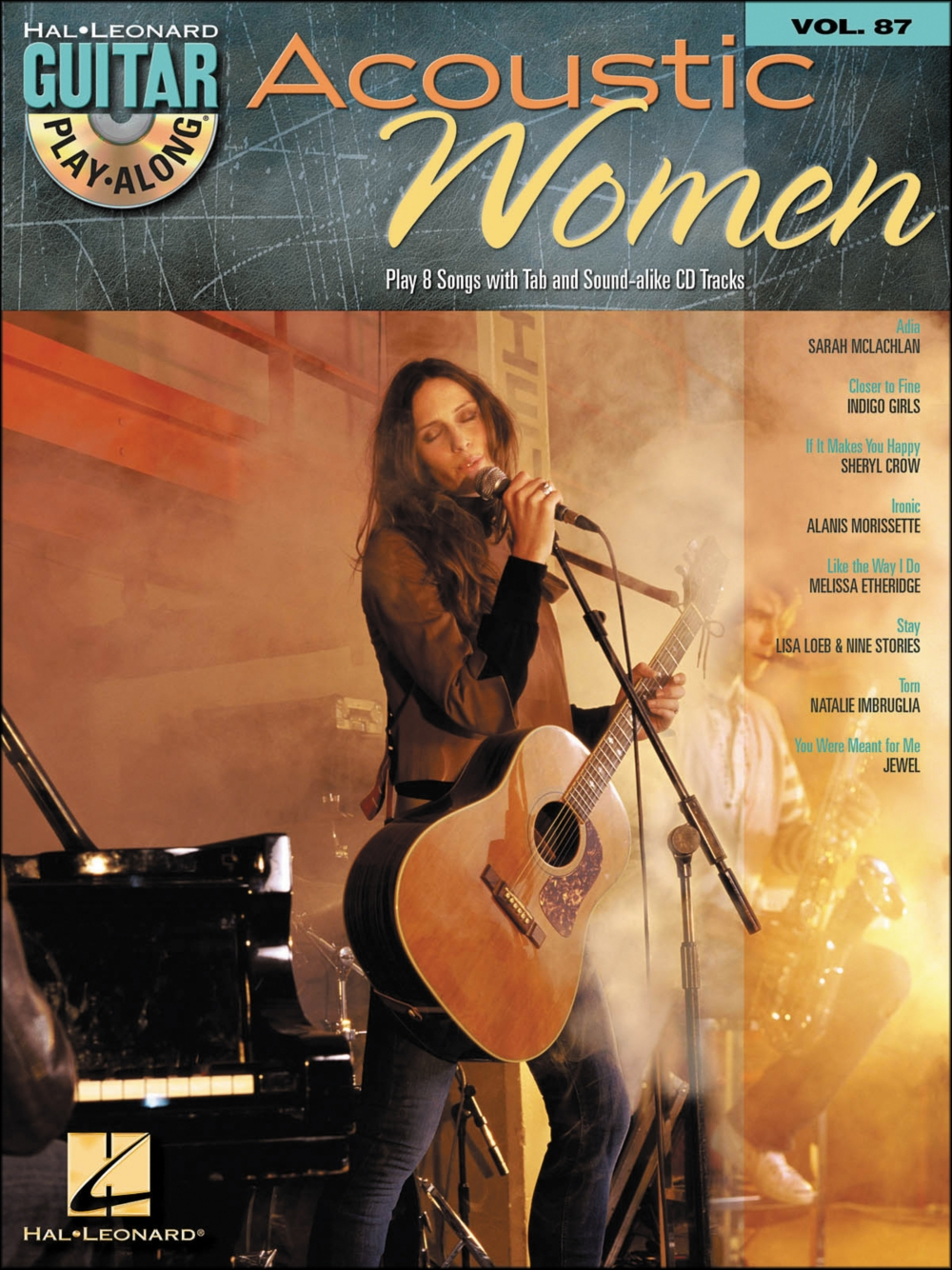 Hal Leonard Acoustic Women Guitar Play-Along Volume 87 (Book CD) by