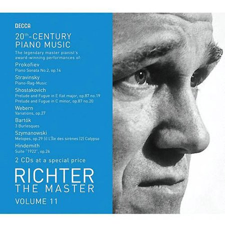 RICHTER THE MASTER, VOL. 11: 20TH CENTURY PIANO