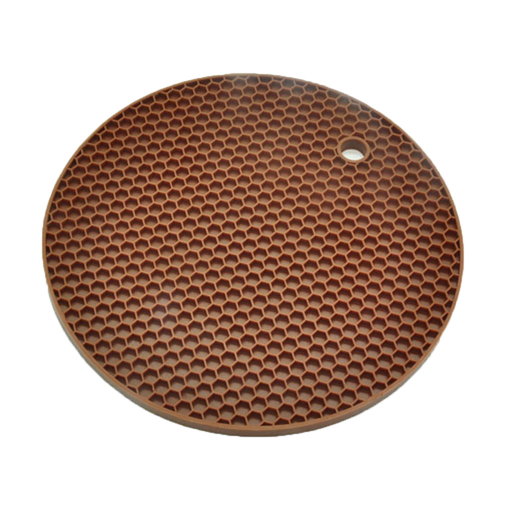 Rubber Non-Slip Heat Resistant Mat Round Table Silicone Mat Coaster Cushion Pot