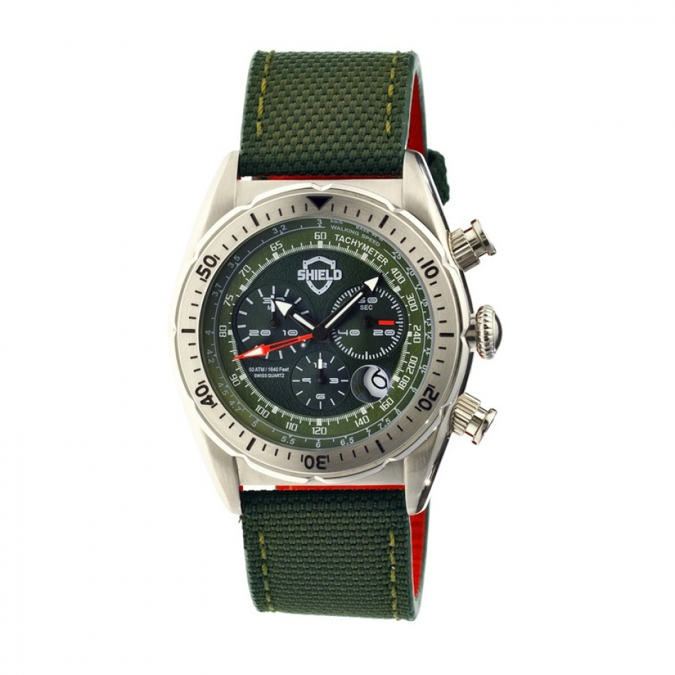 Haig Mens Watch, Silver, Green Dial SLD
