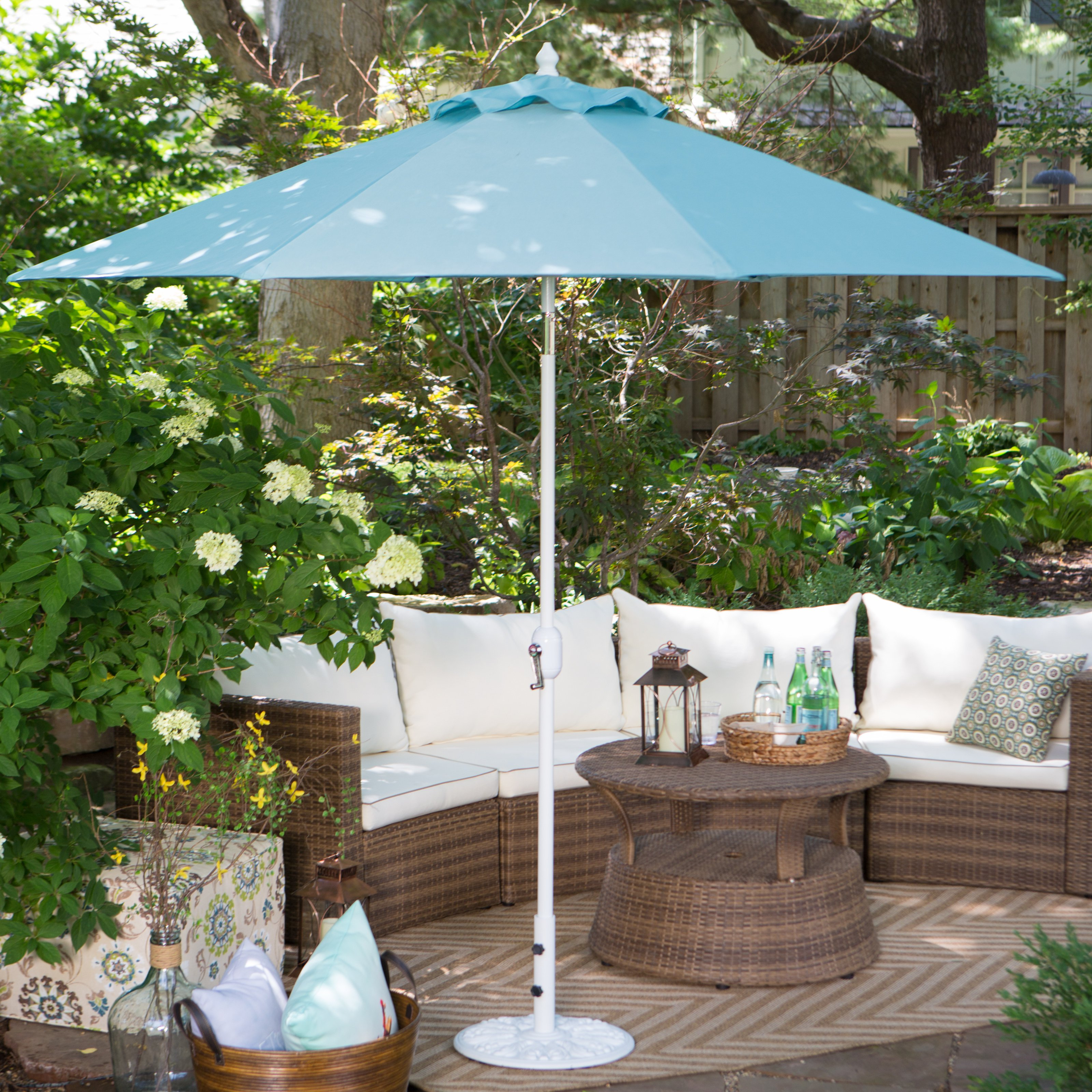 Galtech 9-ft. Aluminum Tilt Sunbrella Patio Umbrella