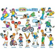 Carson-Dellosa It's Fun to Be Fit Design Bulletin Board Set, 36 Pieces