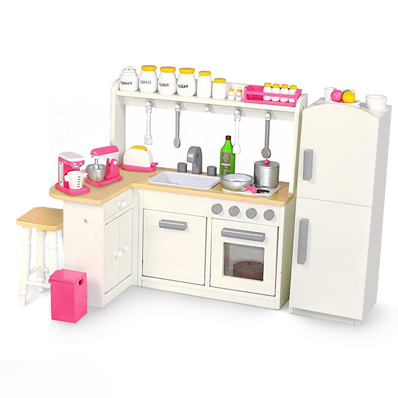 18 Inch Doll Furniture Kitchen Set w  Refrigerator and Accessories Playtime by Eimmie Collection by