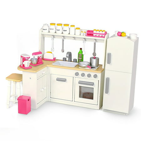 18 Inch Doll Furniture Kitchen Set W Refrigerator And Accessories Playtime By Eimmie Collection