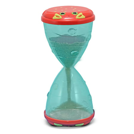 Melissa & Doug Sunny Patch Clicker Crab Hourglass Sand and Water Sifter and Funnel