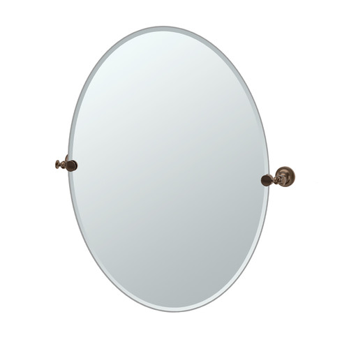 "Gatco 4039LG Tavern 28-1 2""W X 32""H Wall-Mounted Frameless Oval Mirror by Gatco"