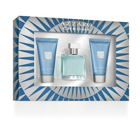 Azzaro Chrome Fragrance Gift Set for Men, 3 piece