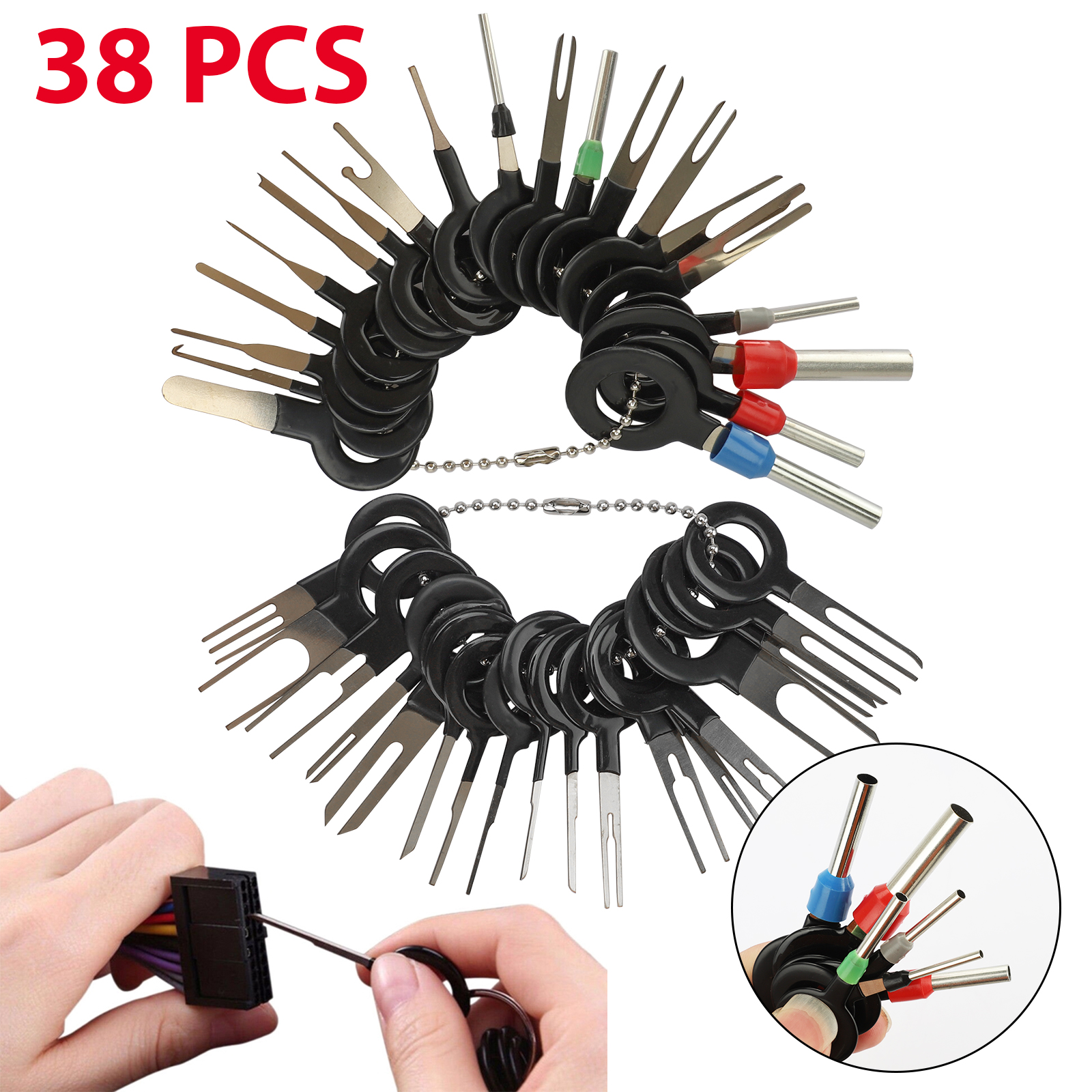 18x ATV Electrical Wiring Connector Removal Kit Cable Pin Terminal Puller Tool