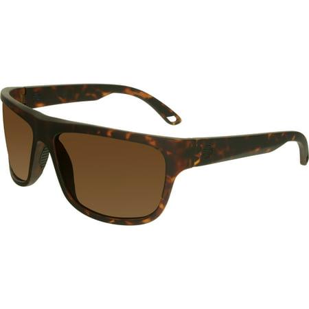 Spy Men's Angler 673237995865 Brown Rectangle (Spy Sunglasses Store)