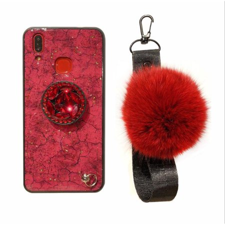 Red Gold Foil Glitter Marble Phone Case For iPhone X XS case