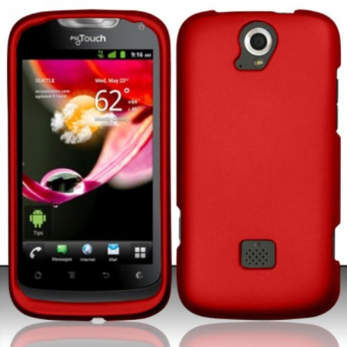 Hard Rubberized Case for Huawei myTouch Q U8730 - Red