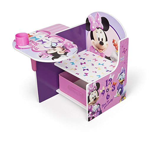 Disney Minnie Mouse Chair Desk with Storage Bin by Delta Children