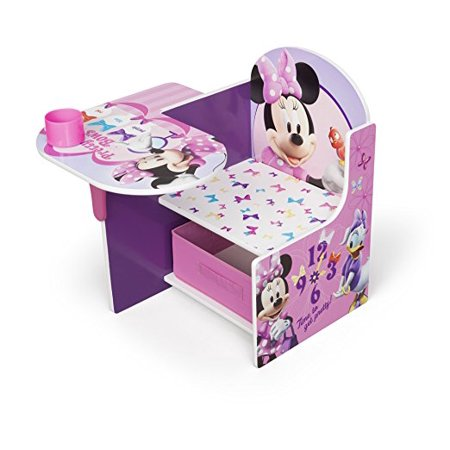 Incredible Disney Minnie Mouse Chair Desk With Storage Bin By Delta Children Customarchery Wood Chair Design Ideas Customarcherynet