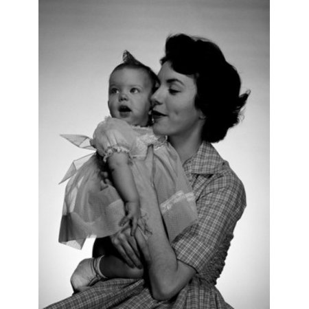 Portrait of mother with baby girl Canvas Art - (18 x 24)