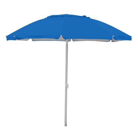 Caribbean Joe 7 Tilting Double Canopy Beach Umbrella With Case