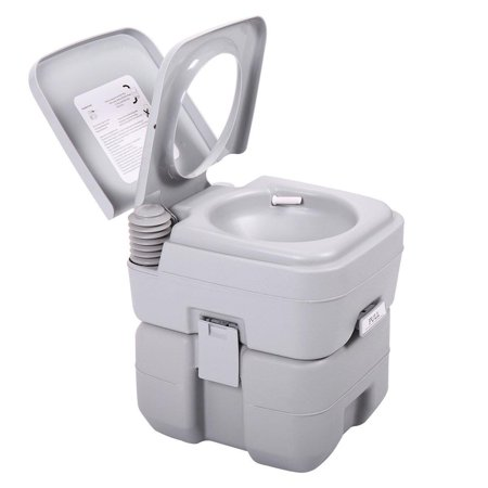 Ktaxon Portable Camping Toilet, 5 Gallon Capacity Leak Proof Compact Porta Potty, up to 50 Flushes, Great for Travel, Camping, RV, Boating,Hiking & Other Outdoor or Indoor Activites (Capacity Compact)