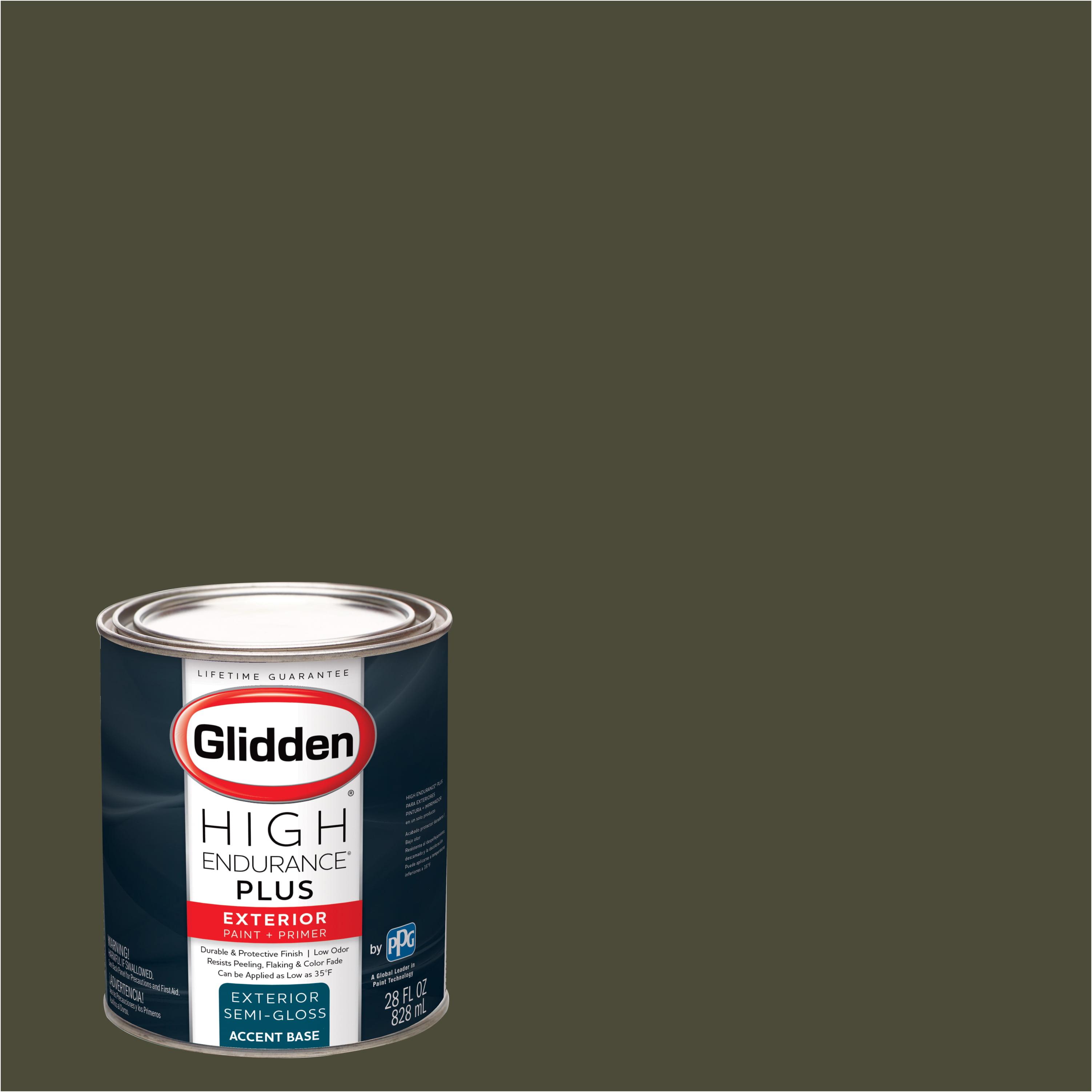 Glidden High Endurance Plus Exterior Paint and Primer, Olive Black, #50YY 09/101