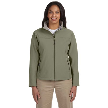 Devon & Jones D995W Ladies Soft Shell Jacket - Olive - - Devon Aire Stretch Coat