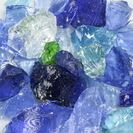 River Mix Small Landscape Glass - 50 Lbs ()