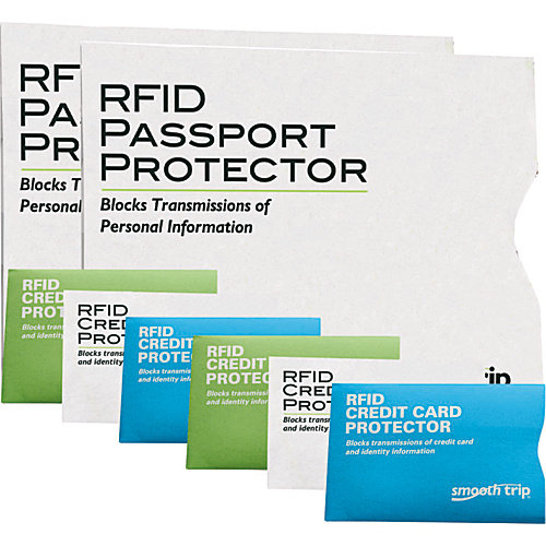 High Road RFID Passport and Credit Card Protectors - 8 pack