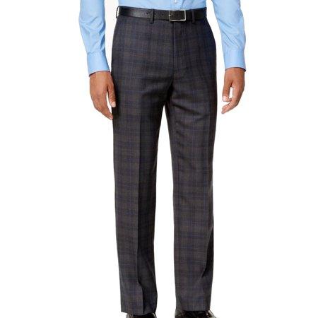 Ryan Seacrest Men 33X32 Dress Flat Front Wool Stretch (Mens Comfort Stretch Wool Dress)