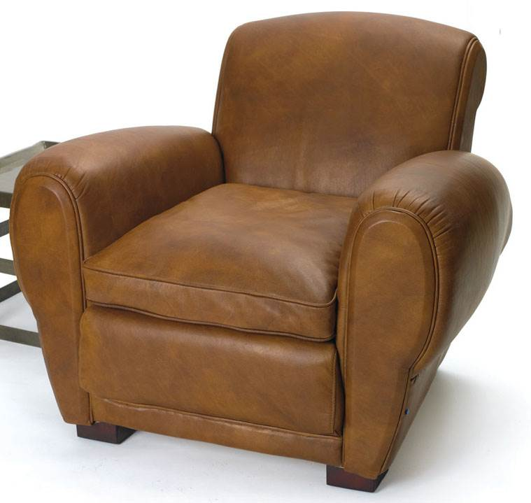Upholstered Club Chair in Brown