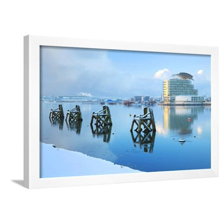 St. David's Hotel and Spa in snow, Cardiff, Bay, Wales, United Kingdom, Europe Framed Print Wall Art By Billy (Cardiff Wall)