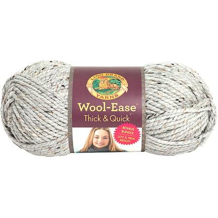 Lion Brand Wool-Ease Thick & Quick Bonus Bundle Yarn-Grey