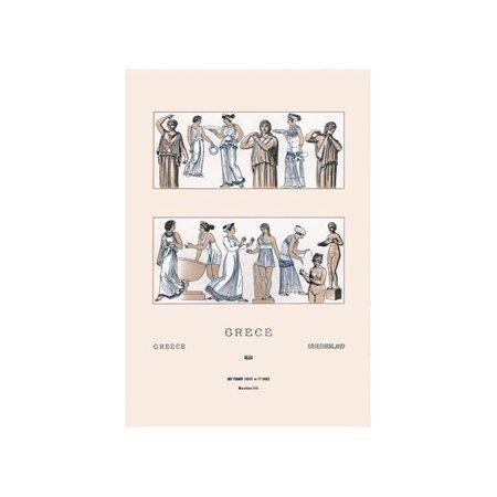 Grecian Women Dressing Print (Unframed Paper Print 20x30)](Grecian Women)