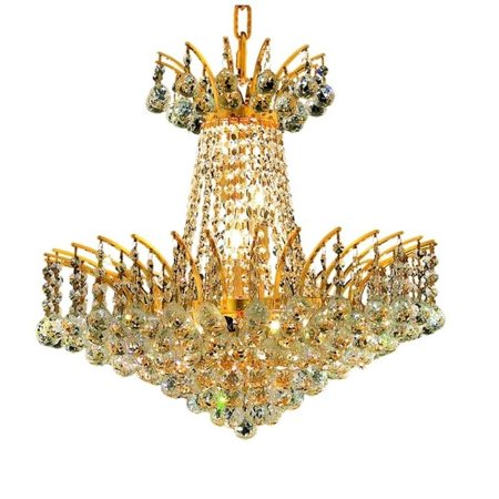"""Elegant Lighting Victoria 19"""" 8 Light Royal Crystal Chandelier - image 1 de 1"""