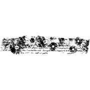 """Joggles Cling Stamp 5.5""""X1""""-Poem Floral Border"""