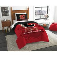 Calgary Flames The Northwest Company NHL Draft Twin Comforter Set