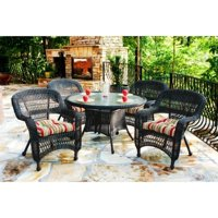 Tortuga Portside 5 Piece Patio Dining Set-White Monti Leaf
