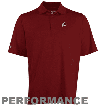 Antigua Polo Shirt (Antigua Washington Redskins Pique Xtra-Lite Polo - Burgundy)
