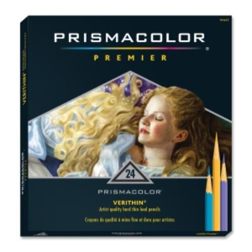 Prismacolor Verithin Colored Pencil - Assorted Lead - Assorted Barrel - 24 / Set (san-2427)