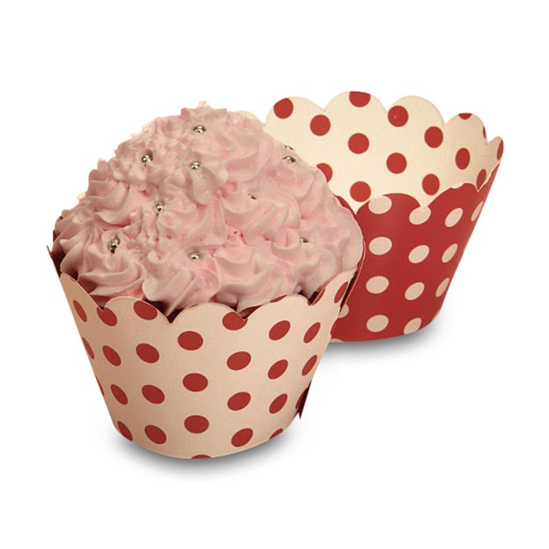 "Polka Dot Cupcake Wrapper    Quantity: 50    Diameter - 2"" by Paper Mart"