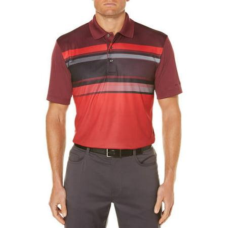 - Big Men's Performance Short Sleeve Stripe Golf Polo Shirt
